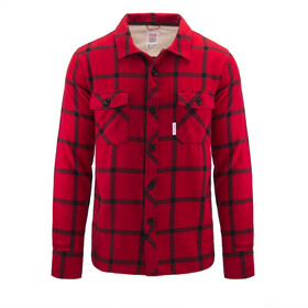 Topo Designs Field Plaid Paita Miehet, red/black